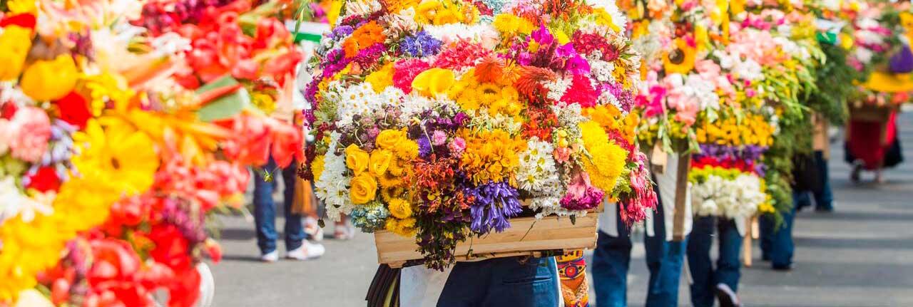 Qué hacer en Medellin? Visitar la feria de las flores